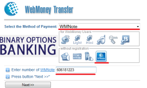 WMNote - Binary Options